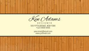 Wood Simple Business Card Template Postermywall
