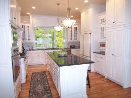 efficient furniture. Furniture:Crown Molding Brown Granite Countertops U Shaped Kitchen Light Pendant Chandelier Black Countertop Modern Efficient Furniture T
