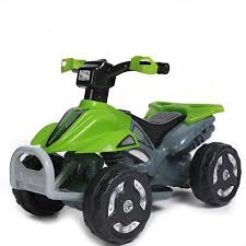 kids ride on 6v battery powered atv quad green walmart com