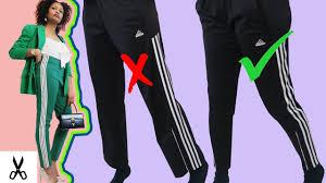 Make Pants How To Make Adidas Track Pants Into Tapered Skinny Leggings