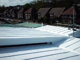 galvanized steel roof metal roof after encapsulation with liquid waterproofing galvanized corrugated metal roofing canada