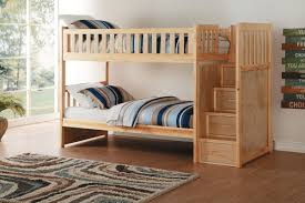Charlton Pine Twin over Twin Bunk Bed with Stairs
