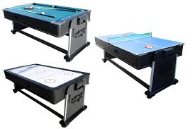 3 in 1 Rotating Multi Game Table - Pool, Air Hockey \u0026amp; Tennis Combo Tables \u2014 America Billiards | Pool Tables,