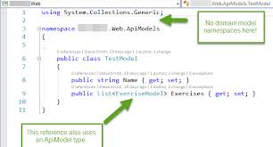 Domain Model Your Api And View Models Should Not Reference Domain Models