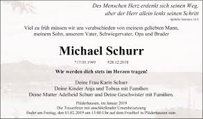 Gedenkseite Von Michael Schurr Trauerportal Ihrer Tageszeitung