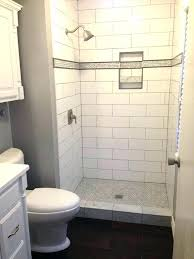 subway tile shower ideas about large on master great bathroom beveled white show