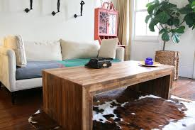 modern wood coffee table