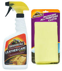 armor all combo of leather care protectant and microfibre cloth