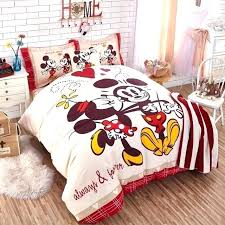 bedding for s cartoon authentic mickey mouse set cotton duvet cover sheet single king size disney