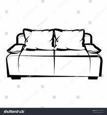 couch clipart black and white. furniture couch clipart black and white silhouettes retro of a man reading interesting news from newspaper i