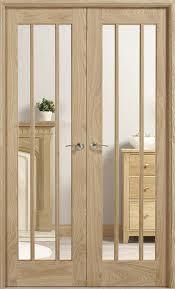 oak pair lincoln clear bevel glass internal door