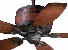 52 rustic wine barrel ceiling fan