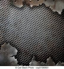 Cracked Grunge Metal Background Template