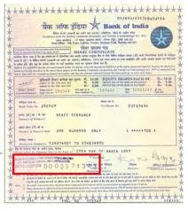 Form Of Share Certificate All About The Process Of Dematerialization Drf Form