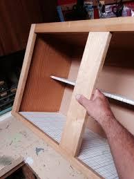 Built in wine rack for over fridge cabinet Woodworking Talk