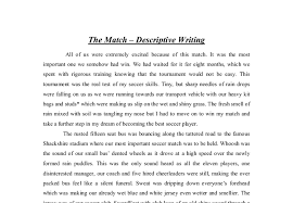 english descriptive essay the match gcse english marked by  document image preview