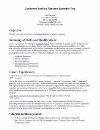 Customer Service Resume Skills Sample Customer Service Resume Fresh Customer Service Resume 88