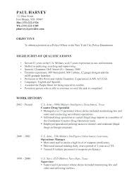 Intelligence Officer Resume Example Best Of Assistant Personnel Officer Resume Police Officer Resume Templates