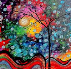 famous abstract paintings famous abstract tree paintings inspire painting