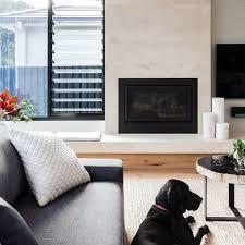 custom designed living space featuring heatmaster australia enviro gas fireplace fireplace