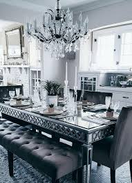 mirror dining room table