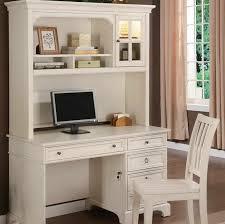 white small computer desk with hutch
