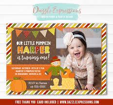 Printable Fall Festival Birthday Invitation Kids Pumpkin And