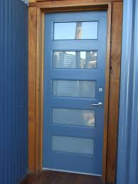 completed carport entry door renovated with opaque glass panels installed and internal beads all replaced