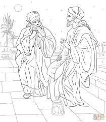 Jezus En Nicodemus Kleurplaat Gratis Kleurplaten Printen