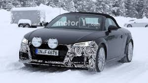 Refreshed Audi TT Roadster Spied Kicking Up Snow During Testing