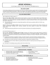 Clerical Resume Templates Adorable Title Clerk Resume Sample Resume Medical Billing Clerk Resume Title