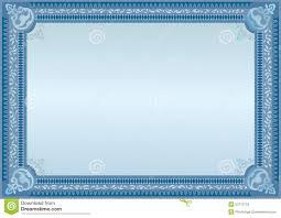 Certificado Azul Espacio En Blanco Del Funcionario Espacio En Blanco