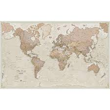 World Map Posters Maps International Giant World Map Antique World Map Poster Laminated 77 5 X 46