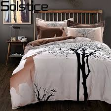 100 cotton bedding sets. Interesting 100 Solstice Simple Fashion Elk 100 Cotton Bedding Set Queen King Size Bed  Linen Clothes And 100 Sets M