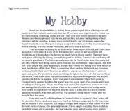 english essay my hobby useful english my hobby