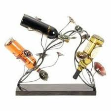 Decorative Wine Bottle Holders Butler Wine Bottle Holder With Two Wine Glasses By Direct 63