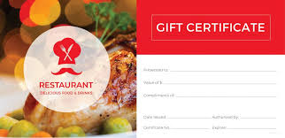 Food Voucher Template Stunning Meal Gift Certificate Template Scugnizziorg