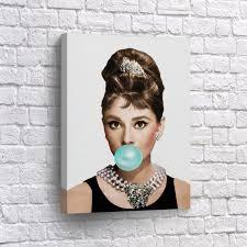 image 0 on audrey hepburn breakfast at tiffanys wall art with audrey hepburn gum canvas print breakfast at tiffany s etsy