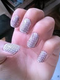 White/black mesh nail art design by Bakamiki on DeviantArt
