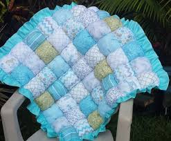 The 25+ best Biscuit quilt ideas on Pinterest | Bubble quilt ... & Aqua and Sage Bubble Quilt / Biscuit Quilt / Puff Quilt / Bubble Blanket by  CandyUnraveled Adamdwight.com