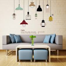 creative chandelier wall sticker living room bedroom window background vintage light decoration mural decals home decor stickers removable wall stencils