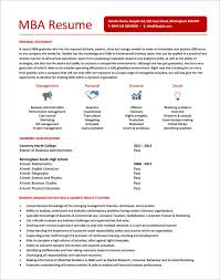 Mba Resume Stunning 966 Mba Resume Template Commily