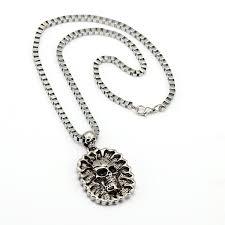 punk hip hop necklace pendant men s skull pendant pendant necklace 2