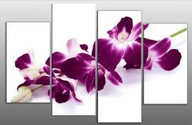 flower purple canvas wall art