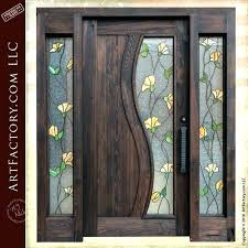 door with glass panels front doors stained entrance side lights