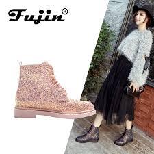 Fujin Ankle Women Boots Shoes Woman Ankle Boots Punk <b>2019</b> ...