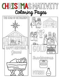 Christmas Nativity Coloring Pages By Countless Smart Cookies Tpt