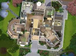 captivating sims 3 modern mansion floor plans new luxury