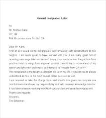 Sample Of Resignation Letter Sample Resignation Letter Template Uk