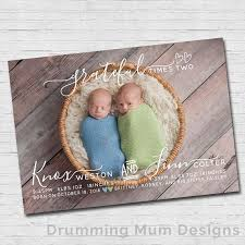 twin birth announcements photo cards twin birth announcement modern twins birth announcement modern twin